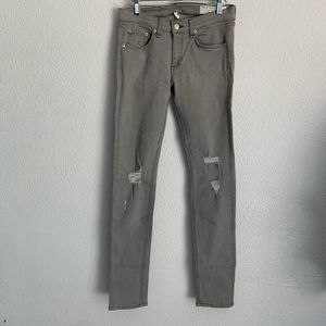 Rag & Bone | skinny gray distressed jeans size 28